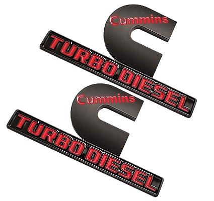 Amazon.com: 2pcs Cummins Turbo Diesel Emblems 3D Decal Badges High Output Replacement for Dodge Ram 2500 3500 Nameplate Emblem Mopar Black Red: Automotive