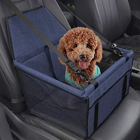 con Cintur/ón de Seguridad y Bolsa de Almacenamiento para Perros y Gatos Plegable y Resistente al Agua Minve Asiento de Coche para Mascotas