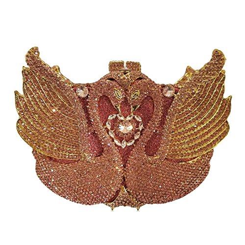 De Cristal Pink Diamants Sac Sac Cygne Luxe Femmes Soirée à Main De De 4v1FWTqx