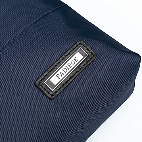 hombre de PADIEOE para Maletín azul Cuero Mensajero Azul bandolera de 4 Bandolera hombre NB150810 Bolso lona Azul bolso BPPHWnzr
