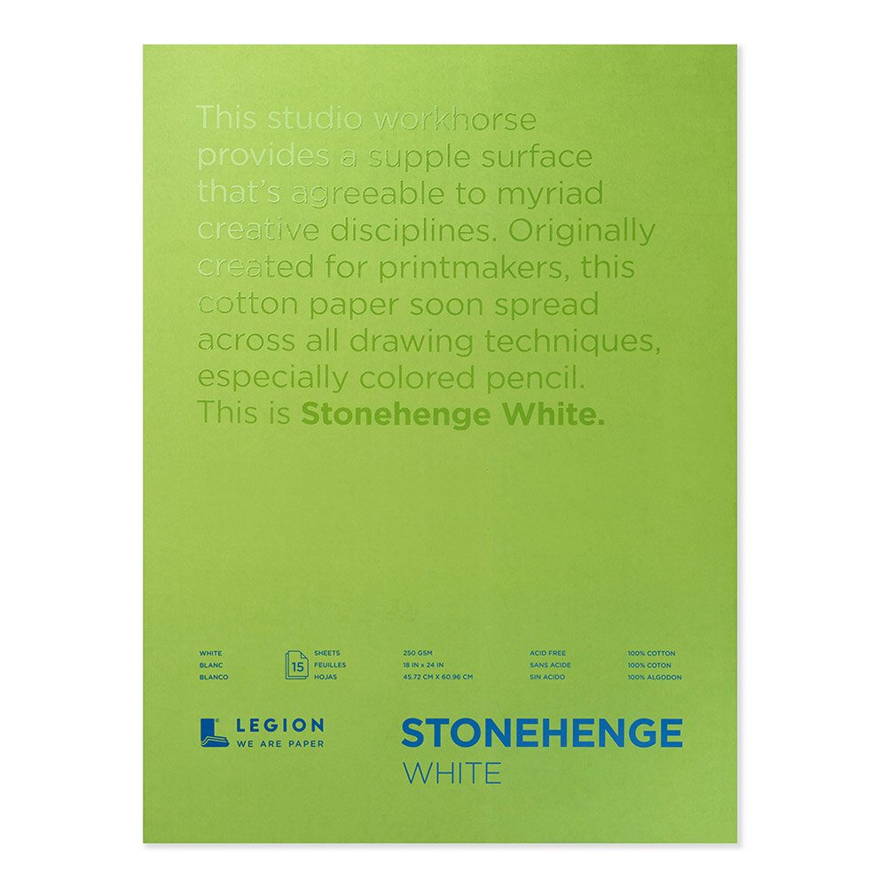 Stonehenge Pad White 18X24 12 Sheets