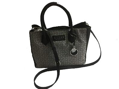 f6814376daa0 Amazon.com  New Guess G Logo Purse Satchel Hand Bag Crossbody Black Gray  Sheldon  Shoes