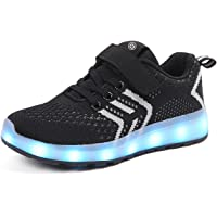 Ansel-UK LED Light up Trainers 7 Colors Luminous Flashing USB Charge Breathable Sport Running Shoes Gymnastic Tennis Sneakers Best Gift for Boys and Girls Birthday