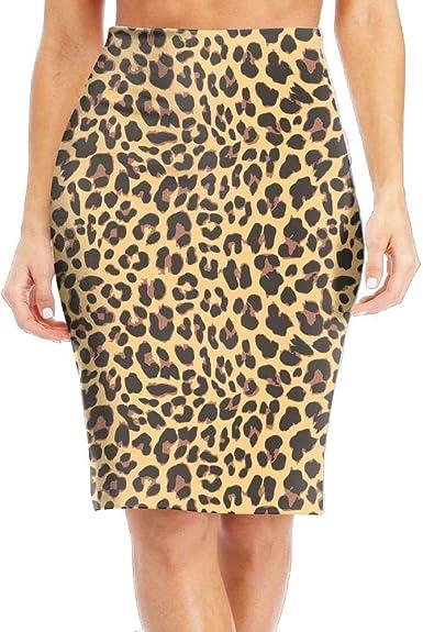 DAWN&ROSE Falda larga para mujer, diseño de guepardo, color ...