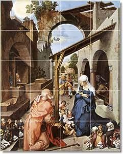 Albrecht Dürer religioso Backsplash azulejo Mural 29. 24 x 76,2 cm con (20) 6 x 6 azulejos de cerámica.