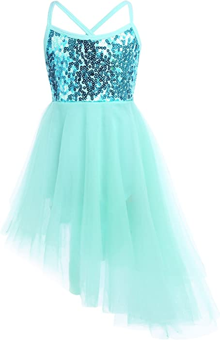 0e7f83965 Amazon.com  FEESHOW Girls Sequined Camisole Ballet Dance Tutu Dress ...