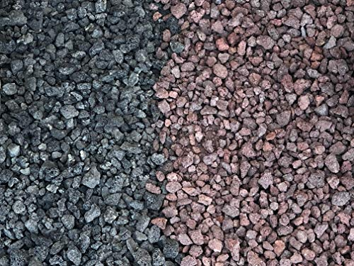 AA Plus Shop Black, Red or Mixed Lava Fire Rocks 3/4 inch 10 and 40 LB, Decorative Fire Pit, Fireplace and Garden (10, Mixed) (Red Garden Rocks)