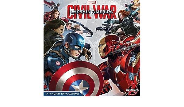Capitán América: Guerra Civil - 2017 calendario 12 x 12 en ...