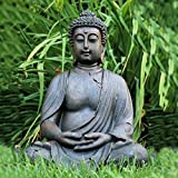 Statue of a Seated Dhyanasana Buddha Museum Quality Reproduction 2 Feet 3 ½ Inches, (27 1/2 Inches) Tall From the Serenity Collection By Whole House Worlds
