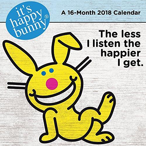 It's Happy Bunny 2018 Wall Calendar