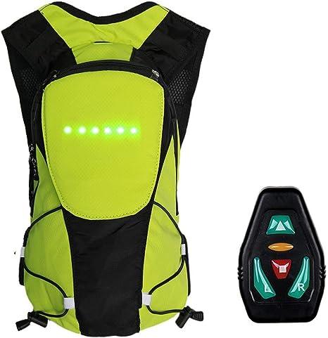 Keptfeet Mochila de ciclismo de 5 L con pantalla de señal LED trasera, mochila de seguridad para bicicleta para deportes al aire libre para hombres y mujeres: Amazon.es: Deportes y aire libre