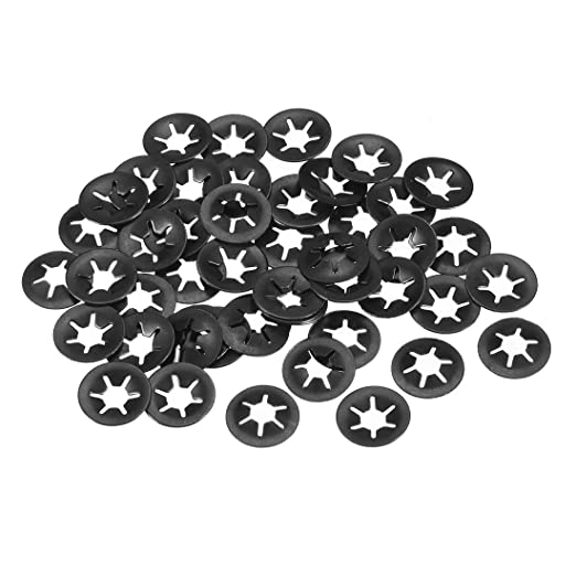 Stainless Steel Push On Lock Washer Locking Washers Clips Fastener 4mm Inner Dia 12mm Outer Dia 100pcs uxcell M4 Internal Tooth Starlock Washer