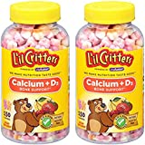 L'il Critters Calcium Gummy Bears with Vitamin D3, 150 Count (2 Pack)