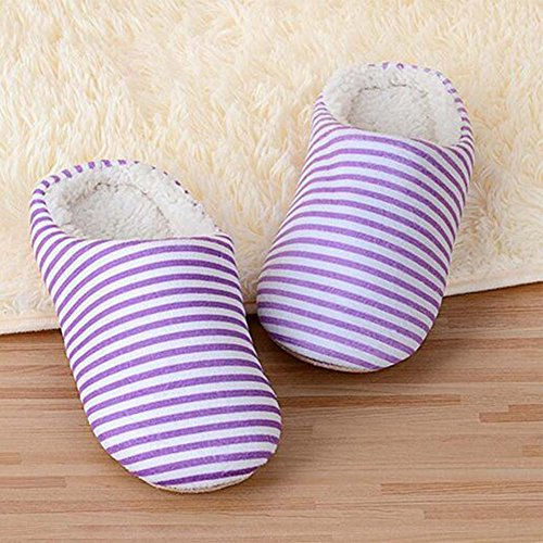 Purple Women Winter House Home Indoor Ankle Warm Slippers Shoes Soft Men xqaOwFv