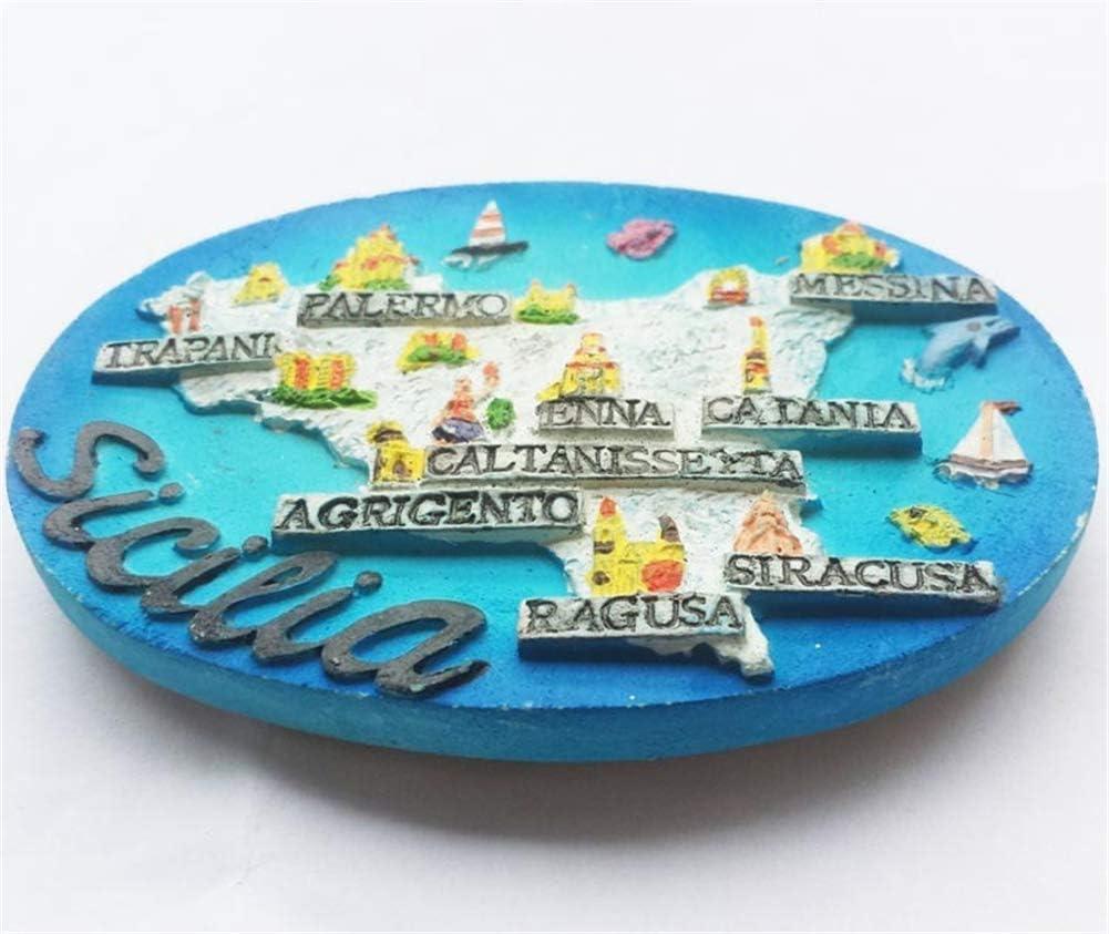 Piazza Navona Rome Italie Aimant R/éfrig/érateur R/ésine 3D City Trip Voyage Souvenir Colleciton Autocollant