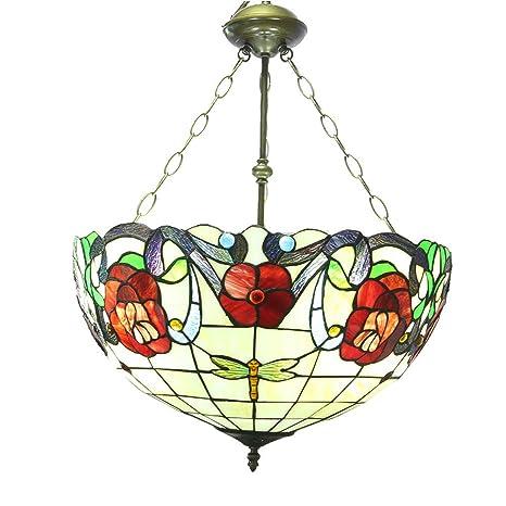 Amazon.com: CCSUN Tiffany - Lámpara de techo colgante para ...