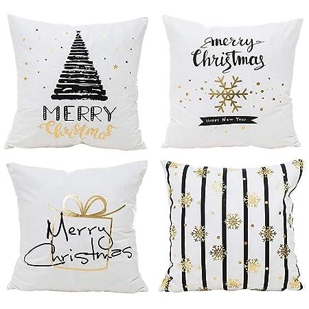 Cuscini Natalizi Per Divano.Natale Fiocco Di Neve Cuscini Per Divani Decorativo Cotone