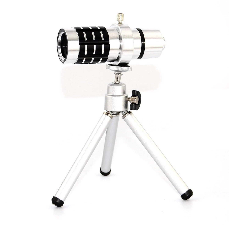 12x Zoom Universal Telescope Camera Telephoto Lens Kit + Tripod For Mobile Phones