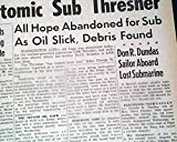USS THRESHER Nuclear Submarine Sinking Disaster
