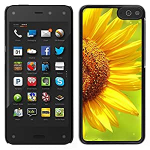 """Pulsar Snap-on Series Teléfono Carcasa Funda Case Caso para Amazon Fire Phone 4.7 , Verano Verde Flor Amarillo"""""""