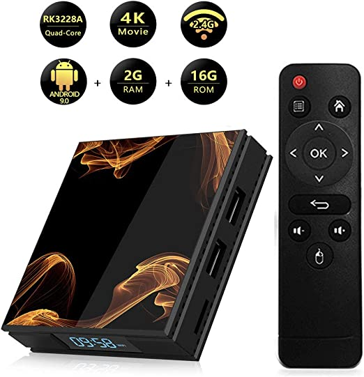 LTLZCY Android TV Box 9.0, Android Box 2GB RAM 16GB Romquad Core Cortex A7 Smart TV Box, Soporta 4K De Resolución 2.4Ghz WiFi Ethernet USB 2.0 Media Player,2+16g,UKPlug: Amazon.es: Hogar