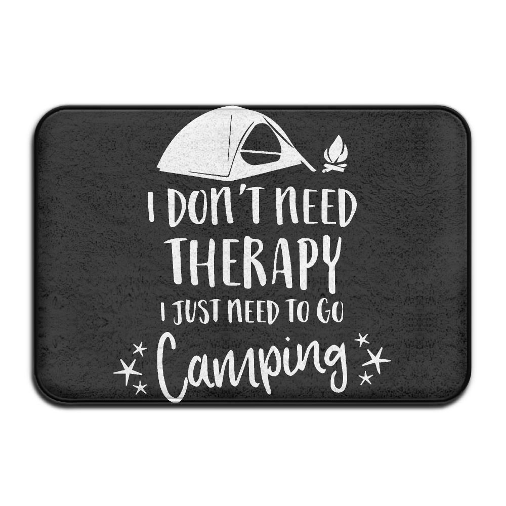 I Don't Need Therapy I Just Need to Go Camping-1 Indoor Outdoor Entrance Rug Non Slip Tub Mat Doormat Rugs for Home HONMAt-Non