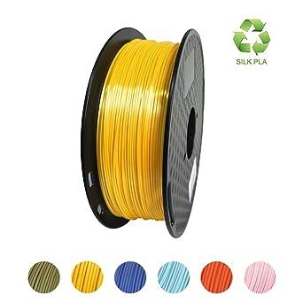 KEHUASHINA Filamento PLA Silk seda de 1.75 mm para impresora ...