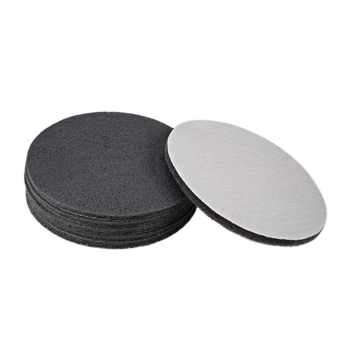 7 pulgadas estropajo de limpieza para pulir y pulir 6 unidades Almohadilla de mano abrasiva 1000 granos para raspar Sourcingmap cepillo de polvo de taladro