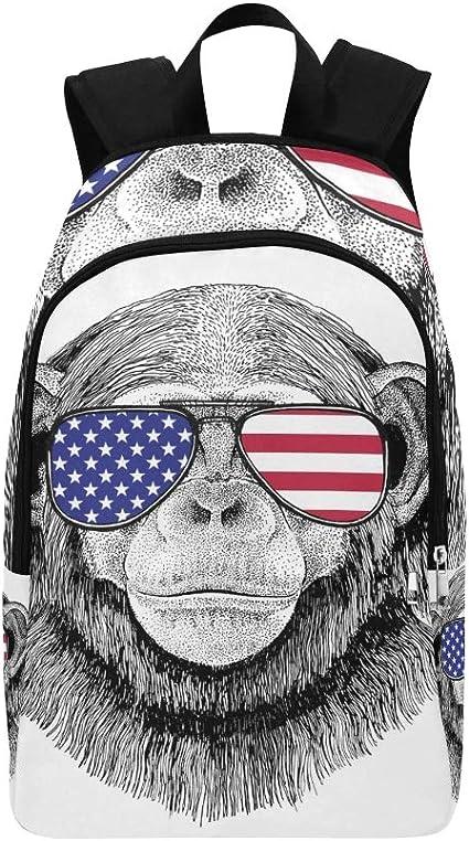Chimpancé Mono Dibujado a Mano Tatuaje Mochila Casual Bolsa de ...