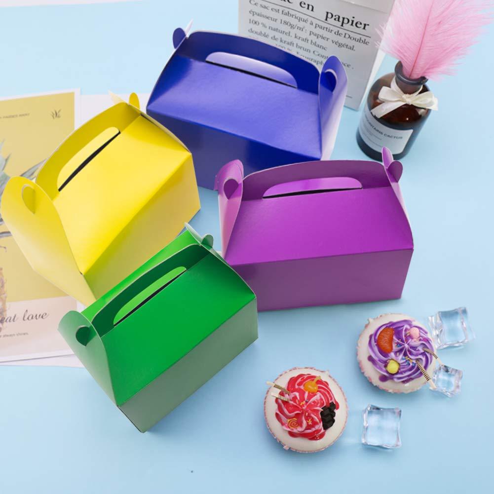 VGOODALL Kuchenkartons, 35 Stück, 7 Regenbogenfarbe Kuchenboxen für Kuchenstücke und Deko Geschenkboxen, 15.5cm x 9cm x 8.5cm