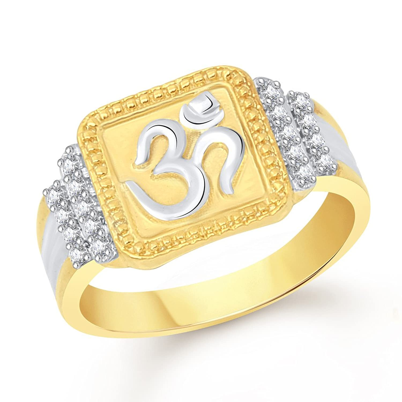 Vidhi Jewels Gold Plated Om Alloy & Brass Finger Ring for Men ...