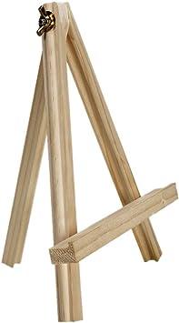 Cettkowns - Caballete de mesa portátil, de madera para pintar ...