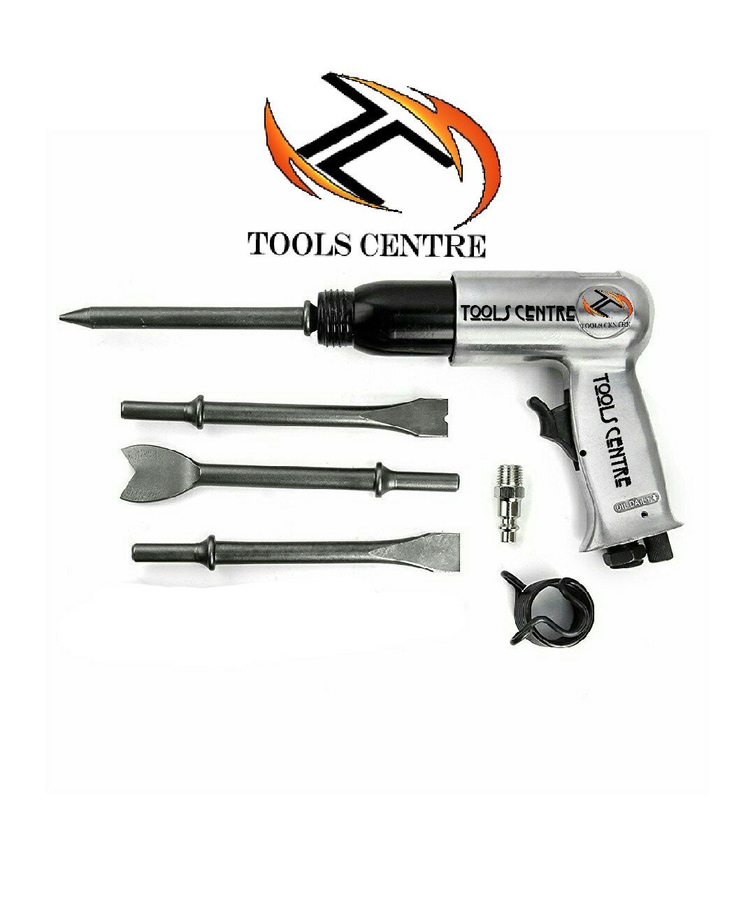 TOOLSCENTRE Tools Centre Powerful 1/2'' Air Hammer Kit With 4Pcs Free Chisel (Various Sizes Available). by Tools Centre