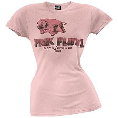Amazon.com: Pink Floyd - Womens Animals Tour Pig Juniors T-Shirt ...
