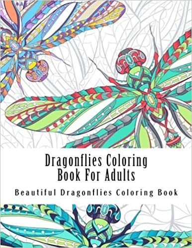 Dragonflies Coloring Book For Adults Large One Sided