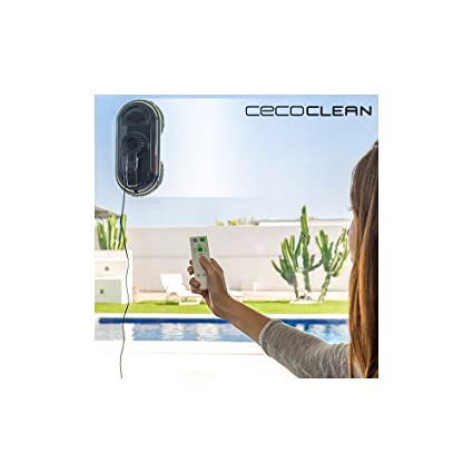 Robot Limpiacristales Cecoclean WinRobot 870 5035 80W Azul Negro