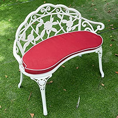 Tremendous Amazon Com Garden Benches Garden Bench Aluminum Rose Style Squirreltailoven Fun Painted Chair Ideas Images Squirreltailovenorg