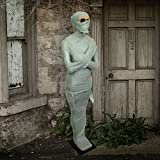 Halloween Haunters 5 foot Standing Realistic Bandaged Mummy Prop Decoration - Life-Size Wrapped Body, Egyptian Tomb