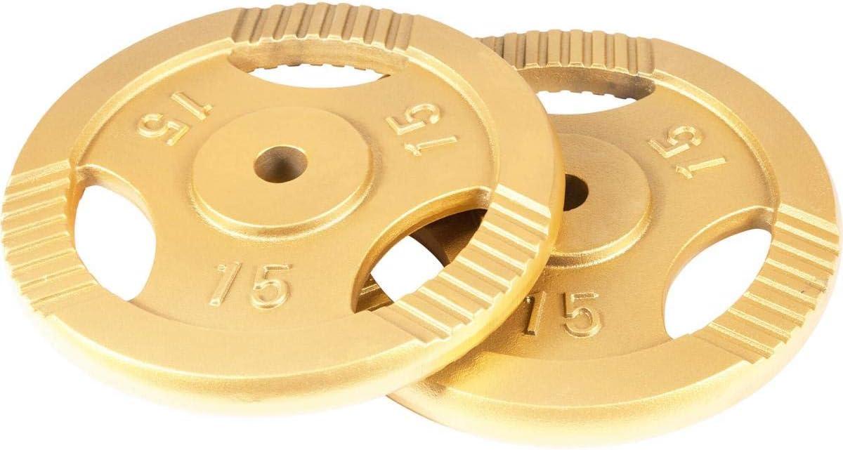 De 0,5 KG /à 20 KG Or 31 mm Gorilla Sports Poids disques en Fonte