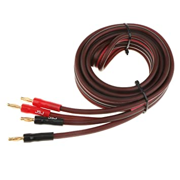 MagiDeal Cable de Audio de Altavoz de Cobre Cable de Audio Enchufe Macho de 2 Machos