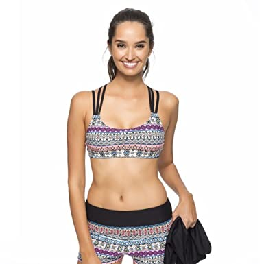 7a2015d72107a Next by Athena Women's Find Your Chi Multi Task Tankini with Remsoft Cup  Sport Bra,