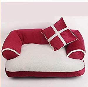 Sofá para mascotas lujoso y cómodo Cama de perro grande de ...