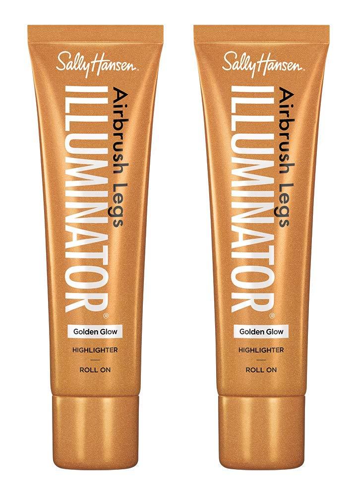 Sally Hansen Airbrush Legs Illuminator Leg Makeup, Golden Glow, 2 Count
