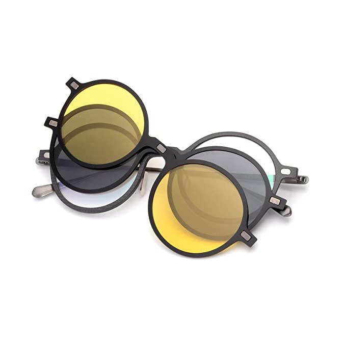 GLASSESKING Prescription Sunglasses With Magnetic Clip On Sunglasses Frames For Carbon Fiber Titanium Optical