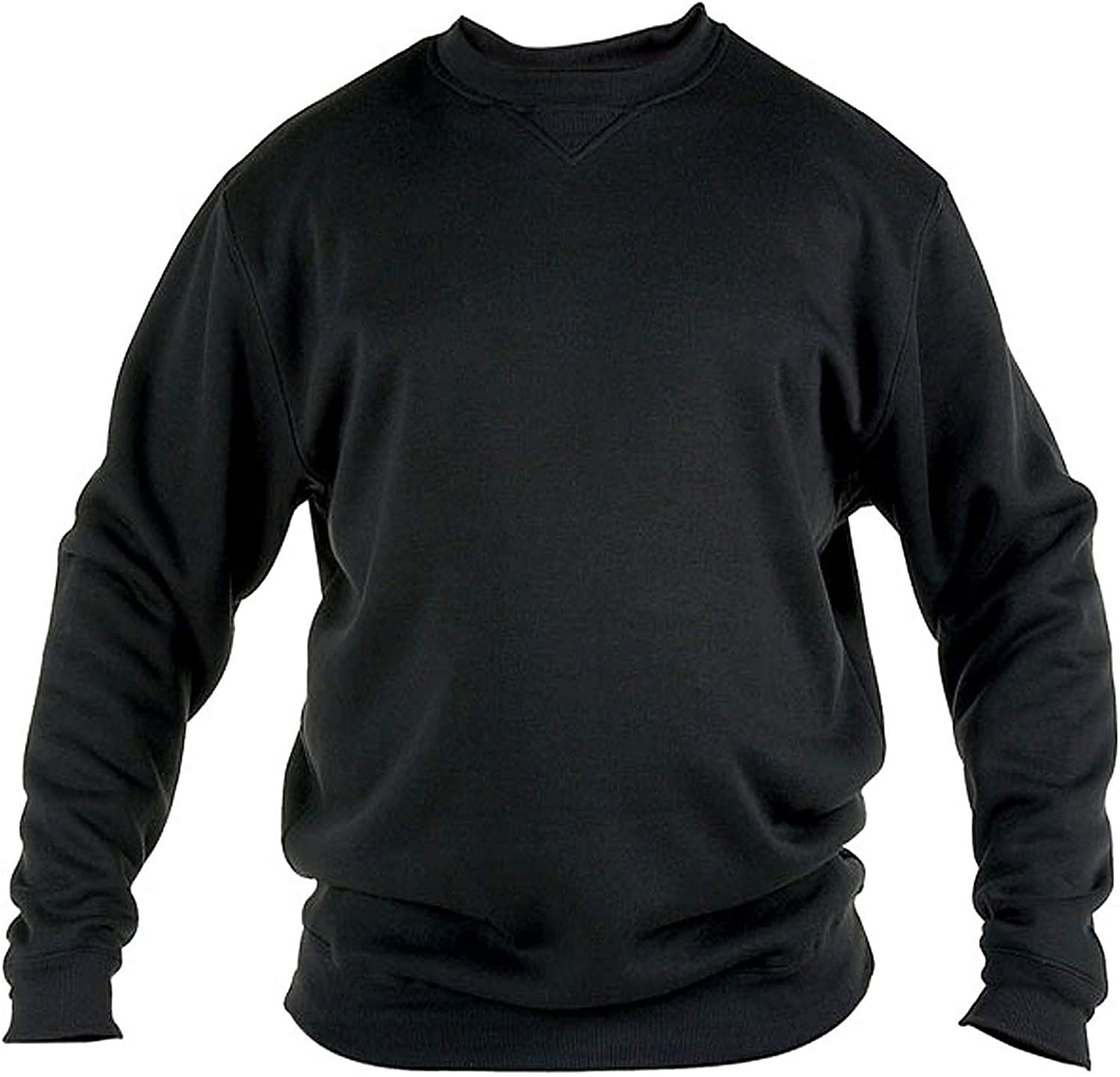 SIZE 1XL TO 8XL ROCKFORD CREW NECK POLY COTTON FLEECE SWEAT SHIRT BLACK 1616 GREY AND NAVY