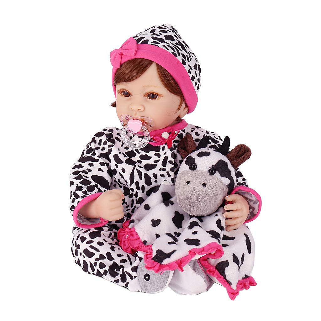 Fogun Lebensecht Neugeborenen Puppe Baby Baby Baby Silikon Vinyl Weiches 55 cm   22  Handgemachtes Mädchen Spielzeug Geburtstagsgeschenk 532401