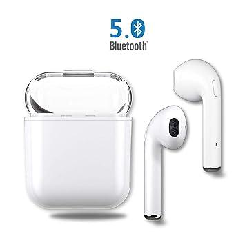 Auriculares Bluetooth Inalámbricos Cascos Deportivos Auricular Running, Cargador de Manos Libres portátil Compatible con Apple, Airpods, iPhone X, 8, ...