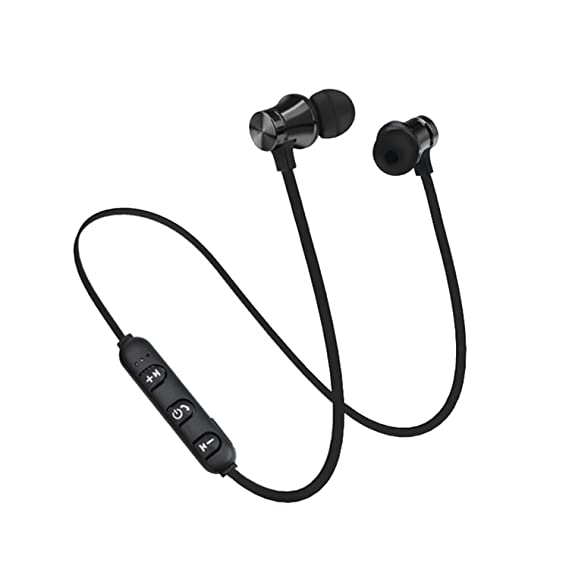 Bluetooth Earphone For Phone Sports Wireless Headphone Mic Stereo Auriculares Earbuds,Black,USA