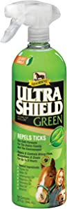Absorbine UltraShield Green Natural Fly Repellent, Water-Based Formula Safe for The Environment with Geraniol and Six Fly-Flighting Natural Oils; 32 Ounce