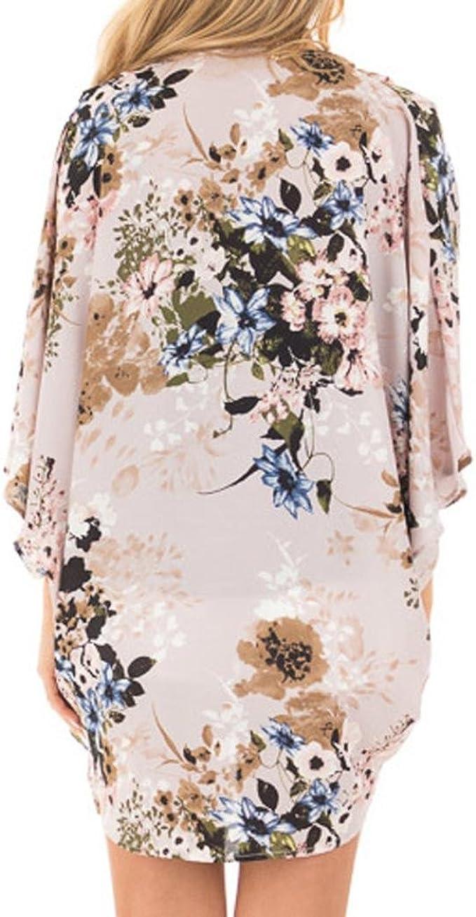 Mujeres Kimono largo floral c/árdigans gasa larga playa bikini cubierta hasta arriba estampado boho c/árdigan frente abierto suelto chal blusa verano para mujer
